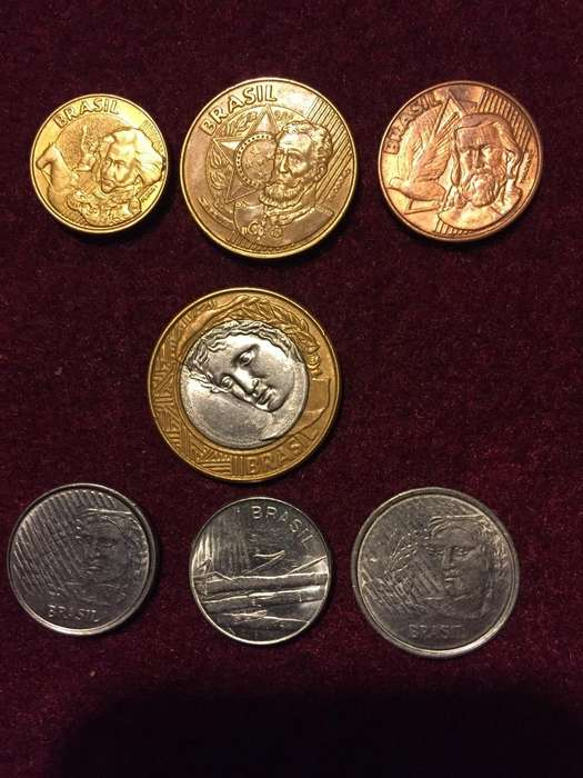 Lote de 7 Monedas Brasileñas