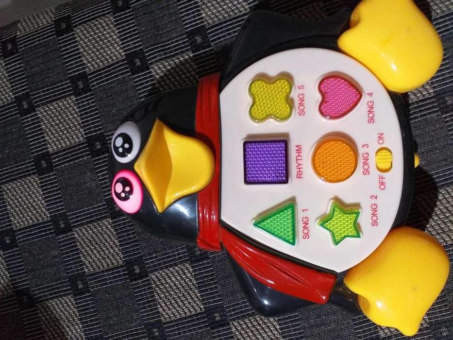 Pingüino- Juguete Didáctico con música y luces de colores