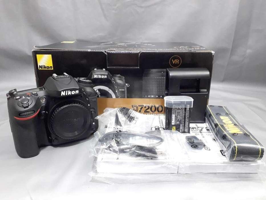 CUERPO Nikon D7200 NUEVO MENOS DE 2000 OBTURACIONES . 24.3 Megapixels