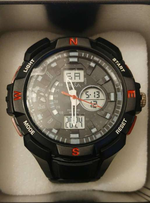 69d025bd311b Reloj Aiwa Rojo Nuevo Sumergible 50mts Hombre Analgico y Digital