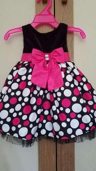 Vestido Elegante Para Niña Talla 12 a 18 Meses