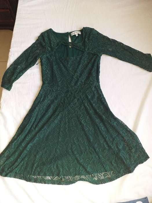 Vestido Verde Tejido, Talla S