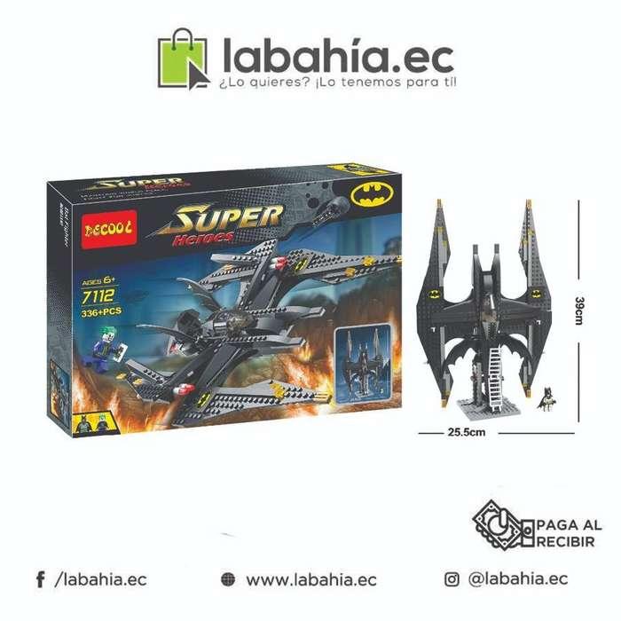 Nave Batman armable con bloque tipo Lego Batinave