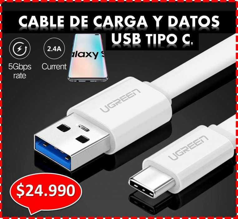 CABLE USB TIPO C, PARA TU SAMSUNG!!! Y OTROS - CARGA RAPIDA 3.0. , ENTREGA A DOMICILIO