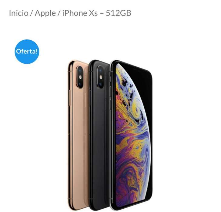 IPHONE XS 512 GB NUEVO SELLADONEGRO