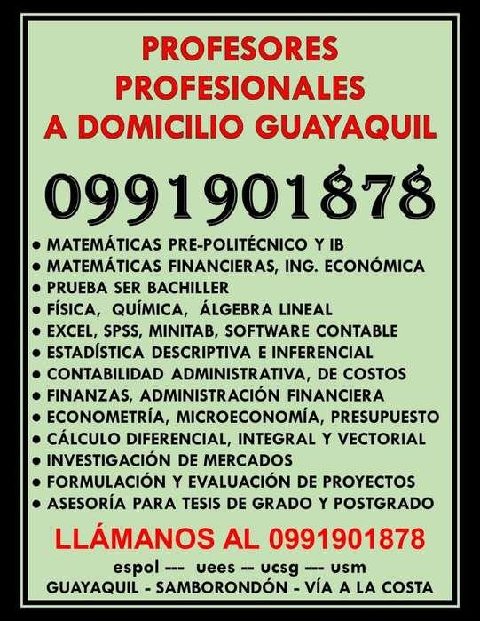 0991901878 PROFESORES Y CLASES DE MATEMÁTICAS FÍSICA QUÍMICA CONTABILIDAD ESTADÍSTICA EXCEL A DOMICILIO GUAYAQUIL
