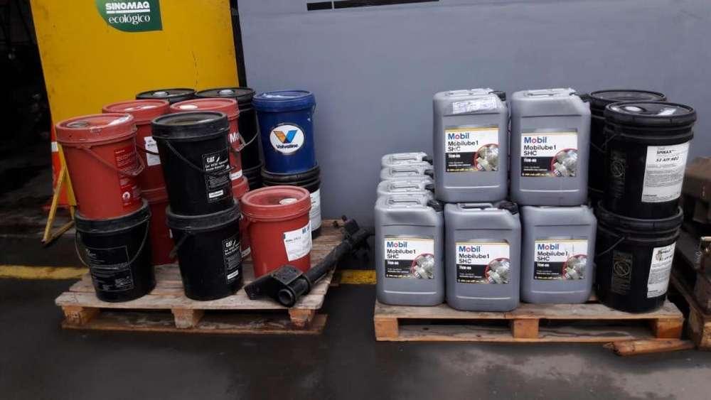 Remate de aceites Shell y Mobil para transmisiones