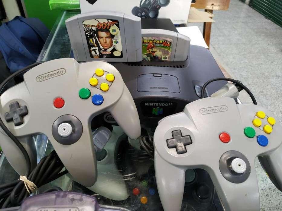Nintendo 64 Golden Y Mario Kart