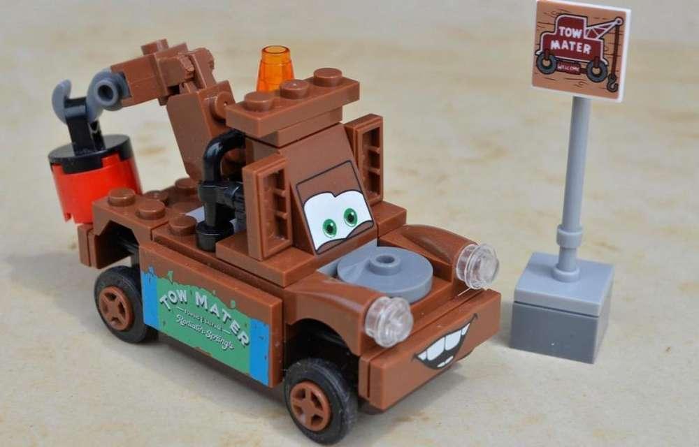 Blockes para armar Cars Grua Mate Camión Mini Figura Simil Lego Rayo Mcqueen Regalo para Niño