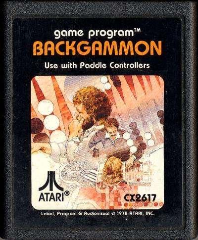 Juego Original Atari 2600 Backgammon Cx2617 100 Funcionando