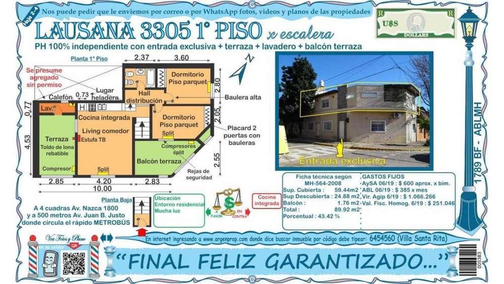 Lausana 3300 1 - UD 178.900 - Tipo casa PH en Venta