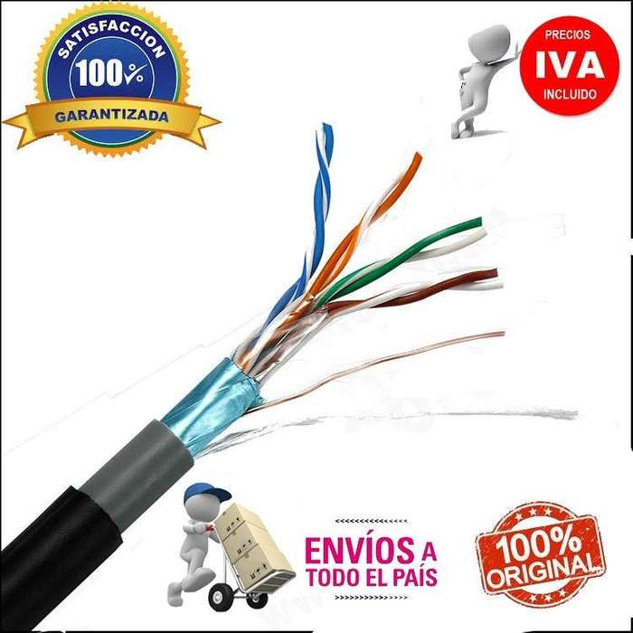 Cable Ftp Cat5e 5e Exteriores Blindado Caja 305m 100% Cobre