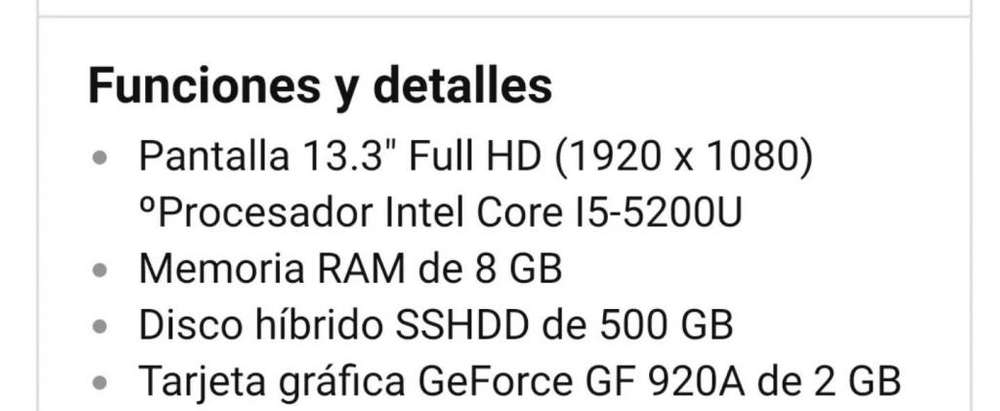Notebook Lenovo Ultrabook core i5