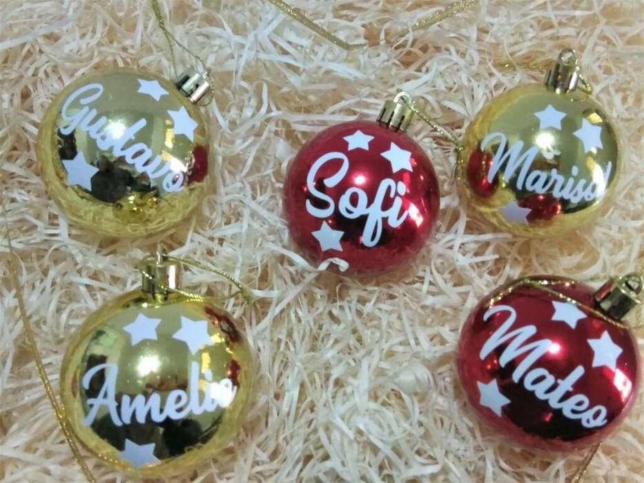 Bolas Navideñas Personalizadas 5 Cm