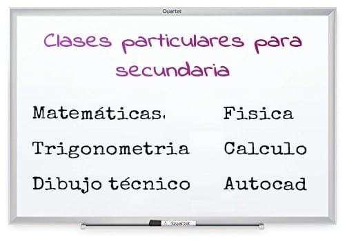 Clases particulares para secundaria