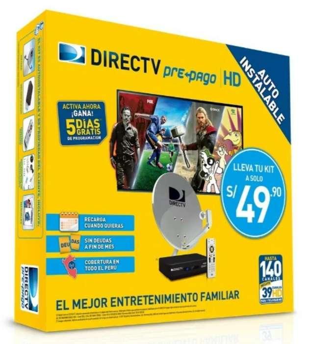 Kit Directv Prepago Hd Completo