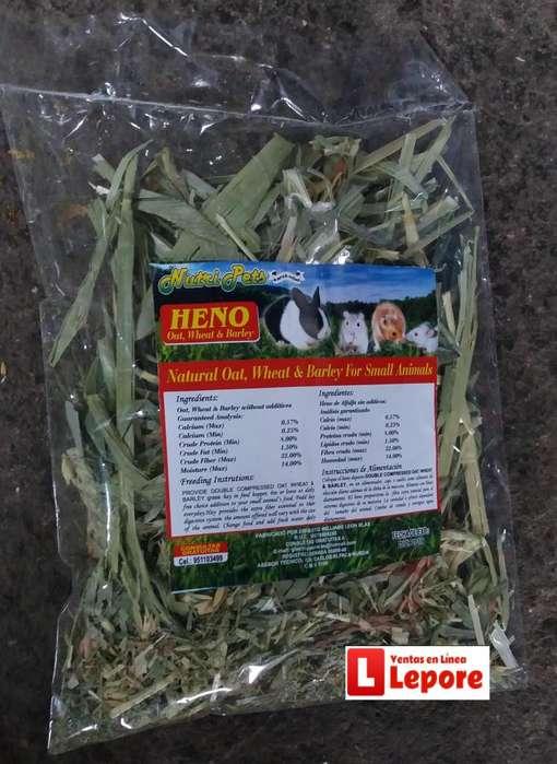 Heno De Alfalfa Sin Aditivos Para Conejos Enanos 120 Gramos