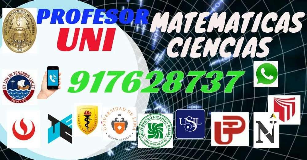 Profesor Uni Matematicas Fisica Quimica