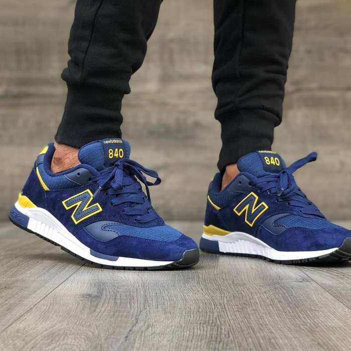 Tenis New Balance Blue And Yellow
