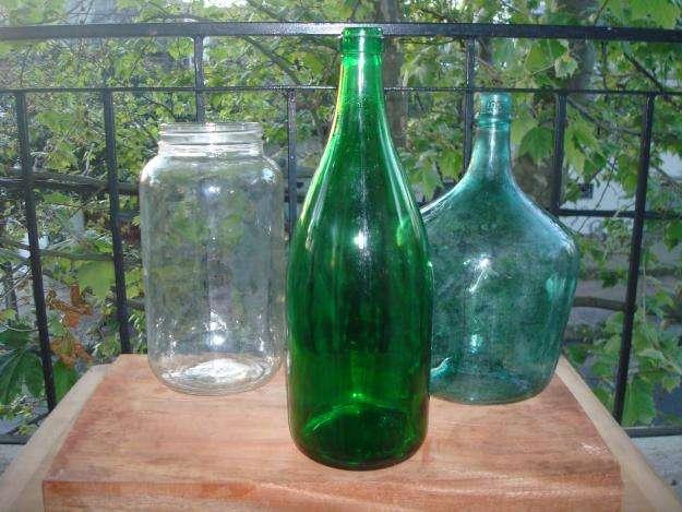 Botellas de vidrio y frascos vacios para decoracion