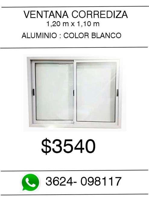 Ventana de <strong>aluminio</strong> 1,20 m x 1,10 m