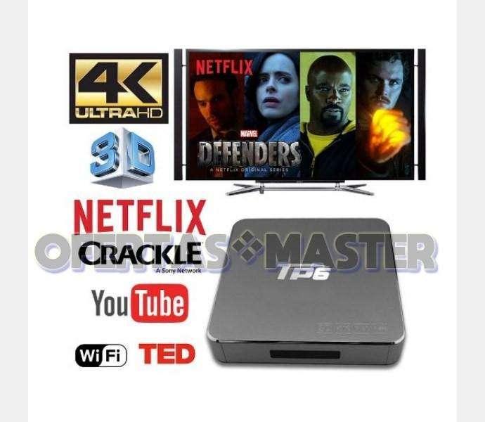 Convierte TV en Smart TV Box MBOX TP6 64bit 3D 4K HDMI Android 6, Control Remoto