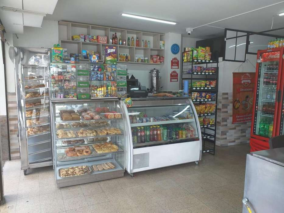 Se vende cafeteria y <strong>panaderia</strong>