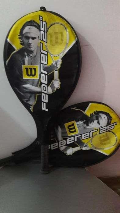 Vendo 2 Raquetas Wilson Federer 25 3/78 x2