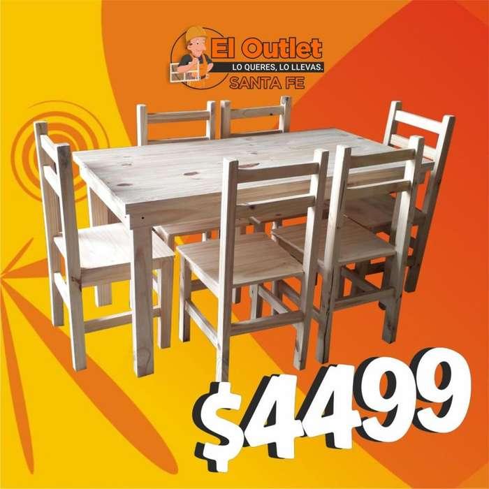 Mesa y <strong>silla</strong>s, barra recta