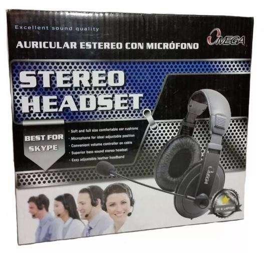 Audífonos Diadema con Micrófono en Cuerina