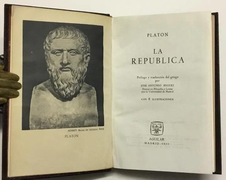 Editorial Aguilarantiguo libro platon La Republica 1959