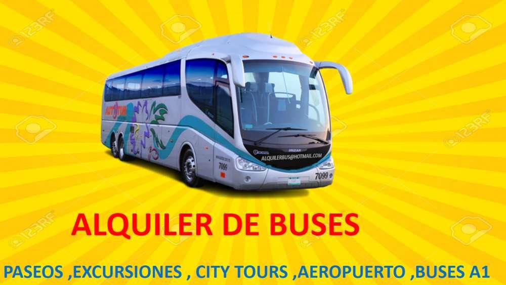 Alquiler de buses para turismo y transporte de personal