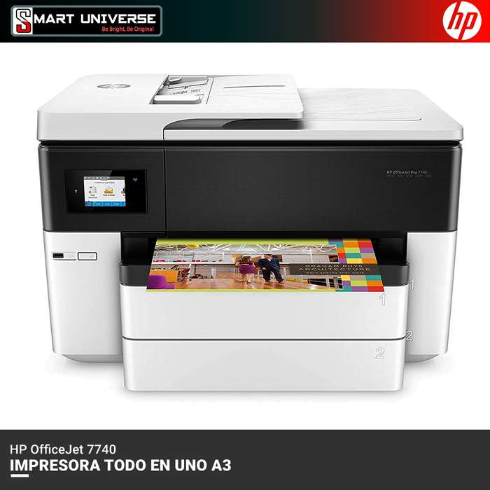 Impresora Hp Officejet 7740 A3 Adf Todo En Uno Wifi Color