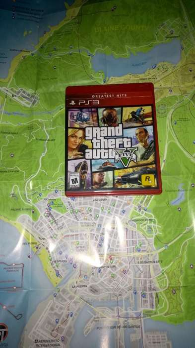 Gta 5 con Mapa para Play 3 Ps3