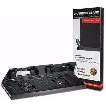 Base Vertical Ps4 Cargador Dualshock Ventilador Refrigerant