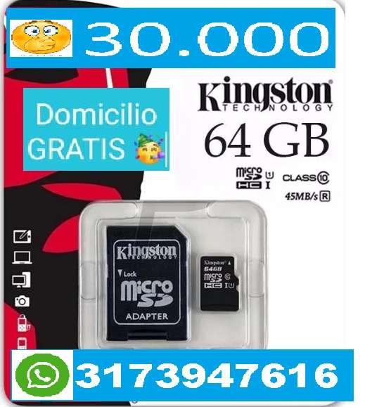 MEMORIA MICRO SD DE 64GB !!! CLASE 10,, EXCELENTE CALIDAD PARA CELULAR,,, SAMSUNG,,HUAWEI,,MOTOROLA WHATSAPP 31739476416