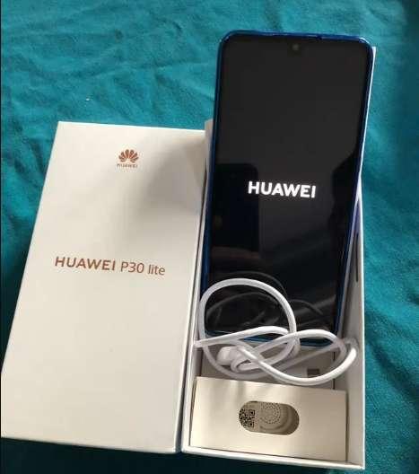 Celular Huawei P30 Lite 128gb 4ram 3cam Forro Y Vidrio 5d GARANTIA Y FACTURA.