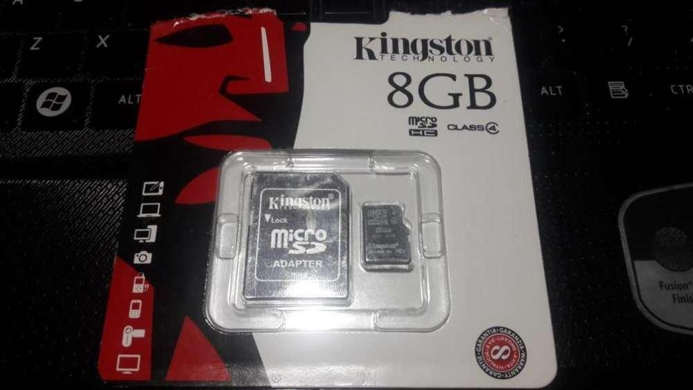 Memoria Micro SD Kingston 8GB HC Clase 4 Genuina!