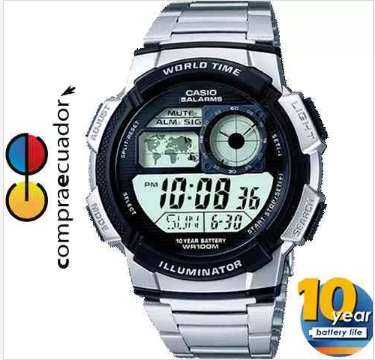<strong>casio</strong> Reloj Ae 1000wd 1av Hombre Cronómetro Hora Mundial