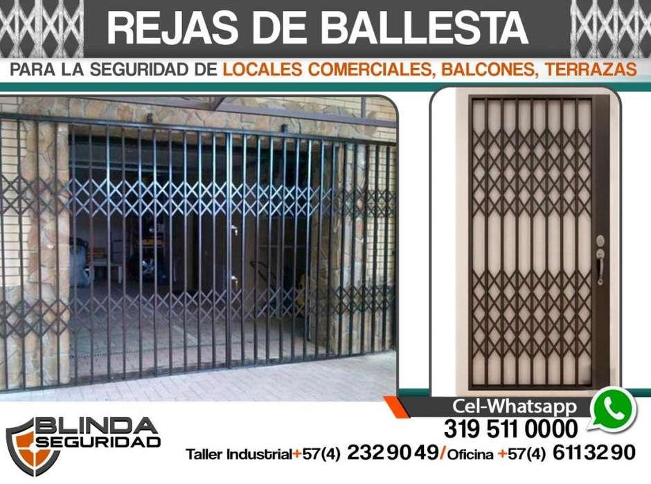 REJAS DE BALLESTAS para Locales Comerciales, Balcones, Terrazas. Fabricación e Instalación