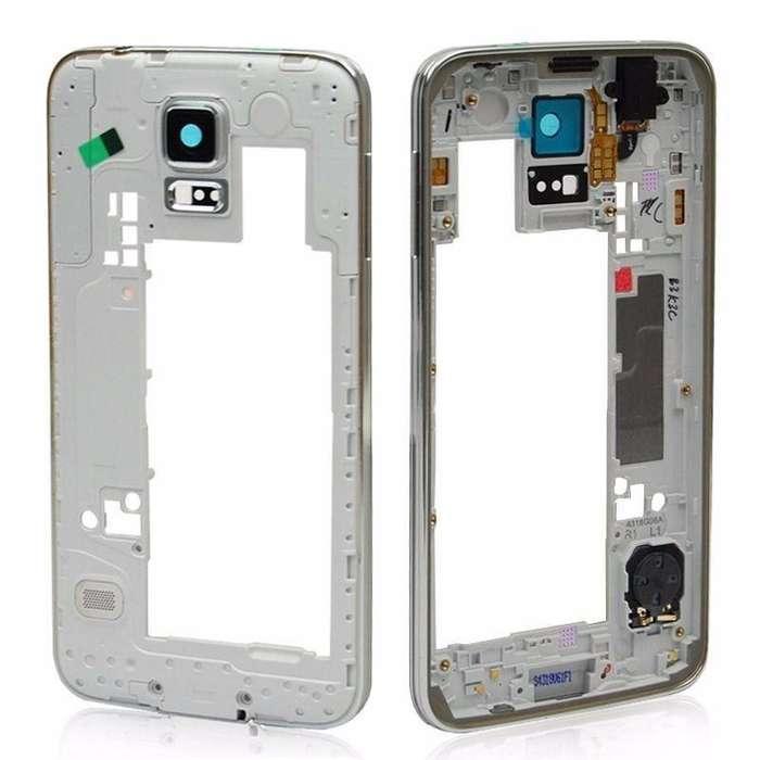 Marco Medio Bisel Samsung S5 G900 I9600 100 Garantizado NUEVOS