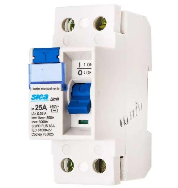 disyuntor sica 25 amp oferta especial. diferencial