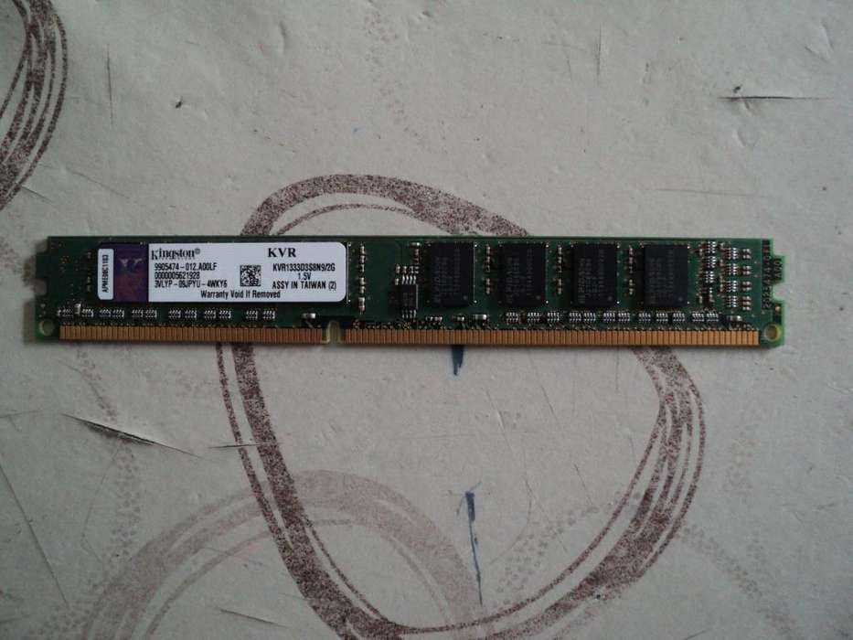 Memoria DDR3 2g 1333Mz Kingston