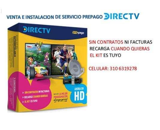 Venta y servicio de instalación servicio prepago Directv