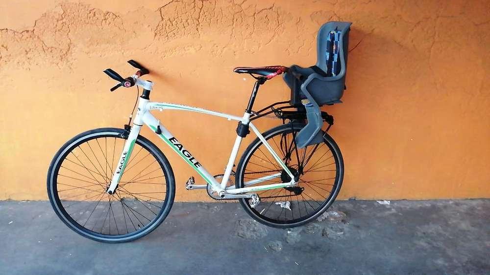 Bicicleta Urbana con Asiento para Niños