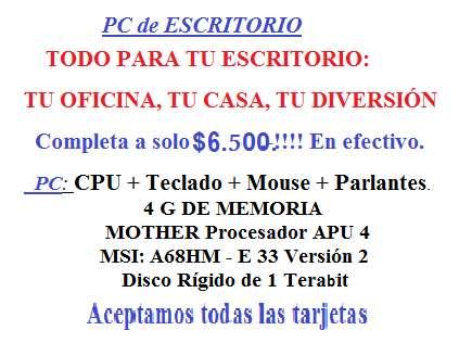 <strong>pc</strong> DE ESCRITORIO