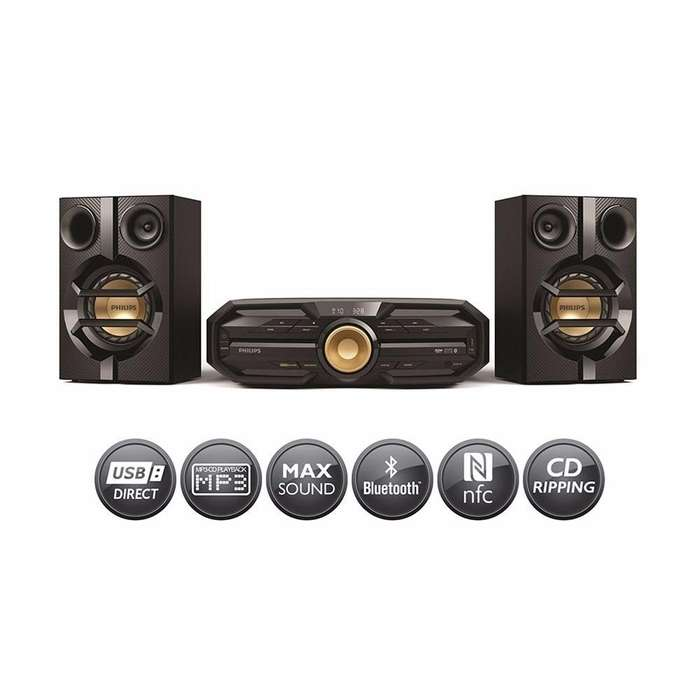 Philips Amplificador/Parlante/Minicomponente Fx10x/77 <strong>mp3</strong> Cd Usb Nfc Max Sound