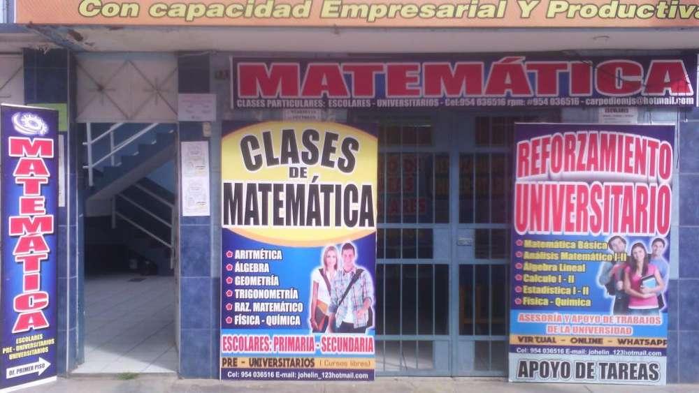 CLASES PARTICULARES DE MATEMÁTICA- PRIMARIA -SECUNDARIA- SUPERIOR EN HUANCAYO