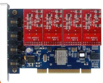 Tdm400p Con 4 Fxo Módulos Asterisk Para Ip Pbx