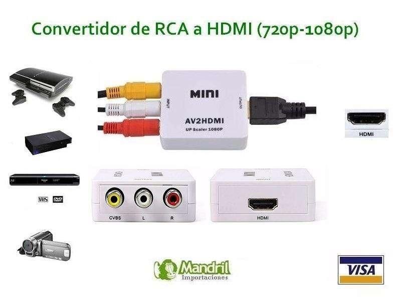 CONVERTIDOR HDMI A RCA Y RCA A HDMI